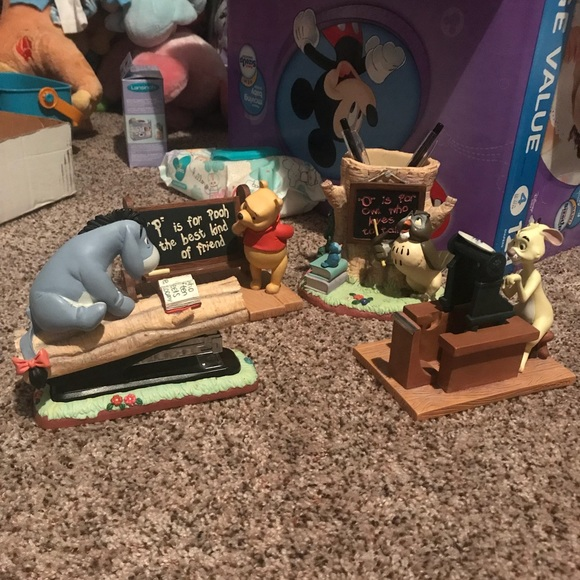 Phenomenal Winnie The Pooh Desk Set Rare Read Description Andrewgaddart Wooden Chair Designs For Living Room Andrewgaddartcom